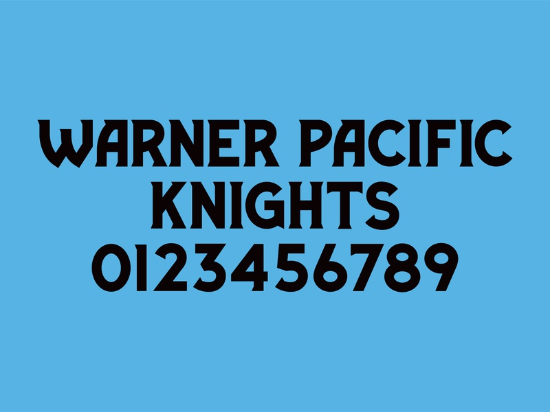 Warner Pacific Knights Athletic Identity Part II - Font oregon portland knights warner pacific jersey numbers athletic branding sports design typography font design font medieval identity design identity brand design branding