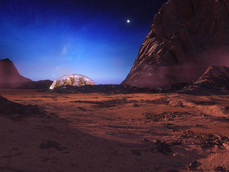 Space Exploration c4d render octane mars enviornment design 3d