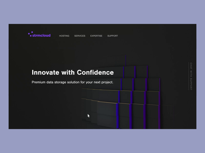 Interaction Design 3d motion technology web gl interaction design landing page
