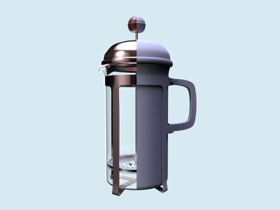 3D French Press concept coffee octane materials wip c4d modeling 3d