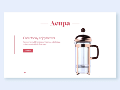 Landing Page - Acupa c4d web 3d scroll animation motion scroll interaction landing page ui ux web design