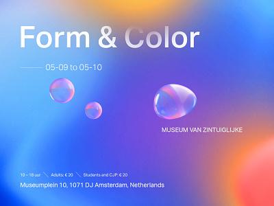 Form & Color color glass blobs blur gradients abstract 3d design