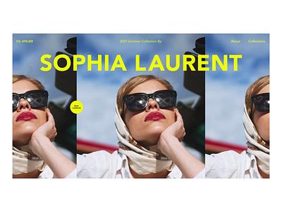 Fashion Lookbook load interactions design ux ui web fashion brand lookbook