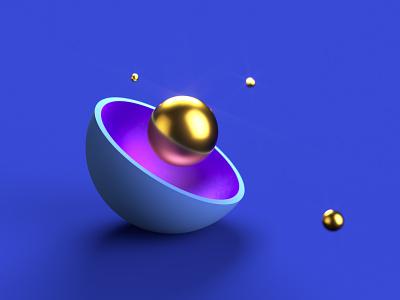 Abstract Spheres render design octane materials surface 3d sphere c4d