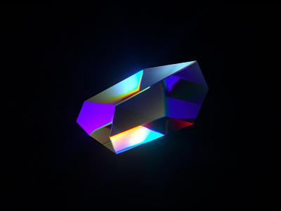 Crystal gem material texture glass crystal caustics cinema4d render abstract c4d 3d design
