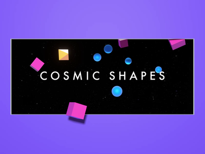 Cosmic Shapes shapes branding ux motion render hero abstract c4d animation 3d design