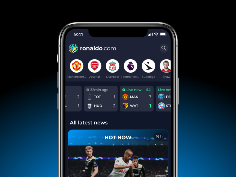 Football fan engagement app premier league manchester united liverpool live soccer soccer app football ui
