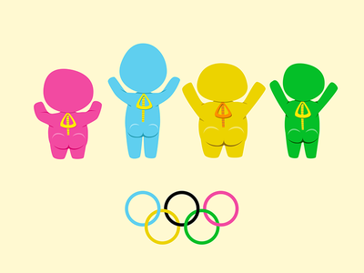 No Privacy in Bobsled characters olympics bobsled cartoon