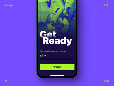 DailyUI - Sign Up for Spinning Class class cycling fitness spinning sign up daily ui dailyui 001