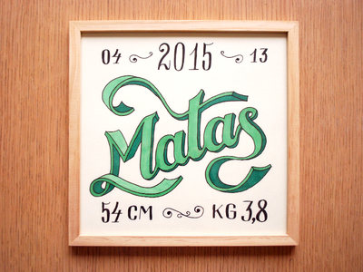 Hand Lettering Matas v2 baby picture typography lettering hand lettering