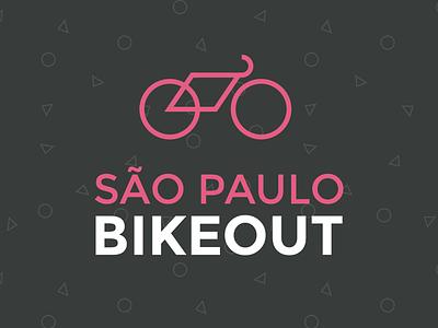 São Paulo BIKEOUT geometric pattern logo são paulo brazil bike