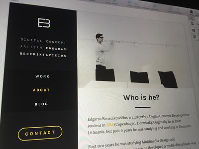 New Portfolio Site web designer personal clean website about portfolio