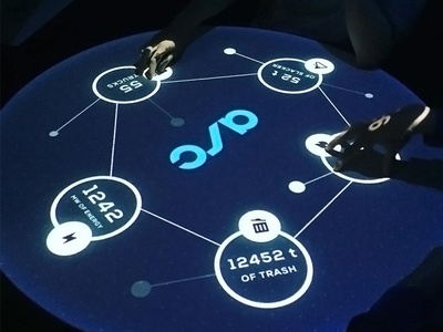 Round Interactive Table Concept