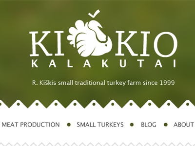 Kiškis turkeys website logo website visual identity turkeys farm lithuania