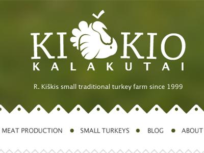 Kiškis turkeys website logo website visual identity turkeys farm lithuania