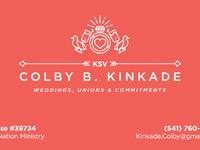 Business card wedding minister by lane kinkade dribbble business card back business card front colourmoves