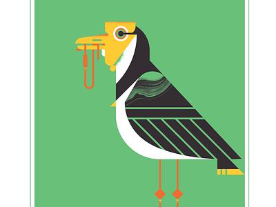 Masked Lapwing geometric fly animal character texture design illustration vector audubon plover bird lapwing