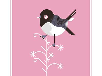 Tomtit graphic design flight tit tomtit geometric character bird texture design vector illustration