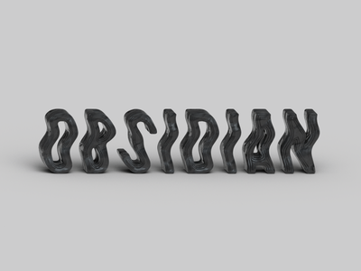 Type Experiment 003 gray black obsidian font letter type typography geometric design illustration vector