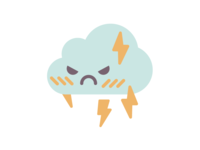 Cloudface Angry Lightning