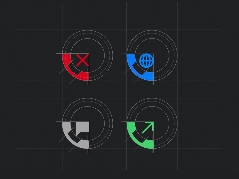 Phone icon design ph messages outgoing voip call grid system design icon phone