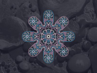 Mandala mandalas geometric dark psychadelic mandala pink blue design vector illustration
