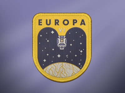 Europa VI Space Mission Patch landing moon stars ship flight badge mission patch exploration space planet europa