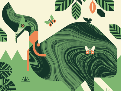 Cassowary animal logo illustration leaf feathers nature green character texture vector chicks bird cassowary