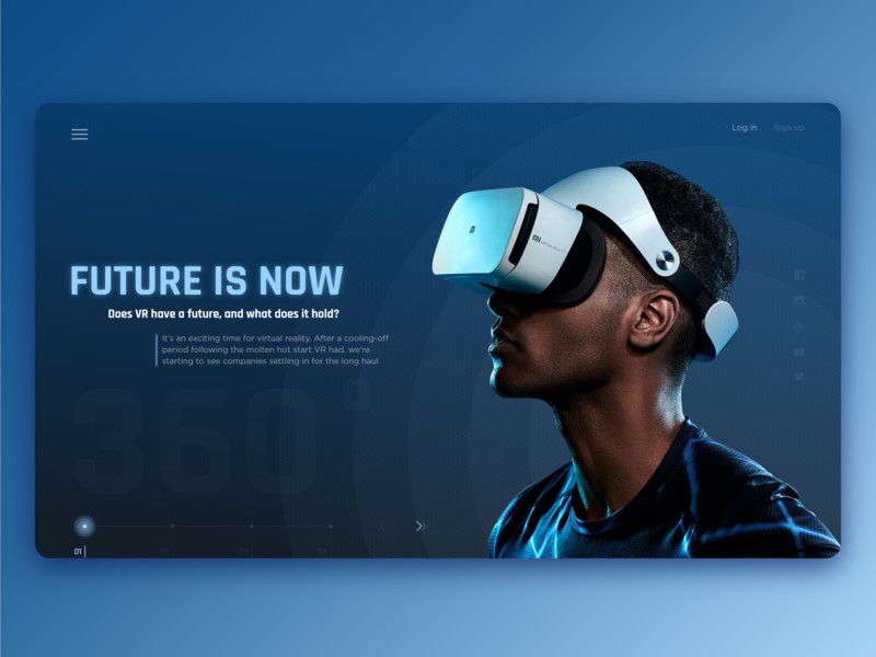 Future is now  Virtual reality by Alex Lobachev on Dribbble