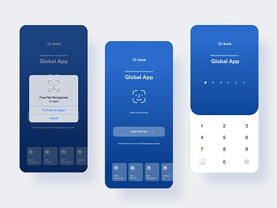 Bank login login money app ui ux wallet finance bank