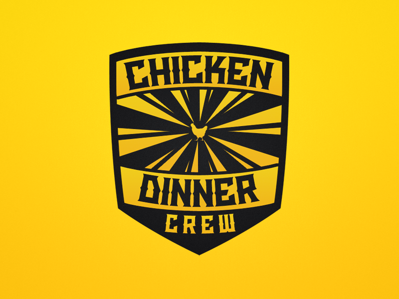 Chicken Dinner Crew Logo By Kay Christian Kage Dribbble Dribbble