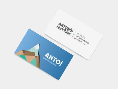 ANTODESIGN Business Cards flat logo design branding vector busines card designer graphic design