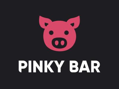 PINKY BAR Logo Design branding vector logo graphic design designer design