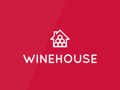 WINEHOUSE Logo Design flat vector logo graphic design designer design branding