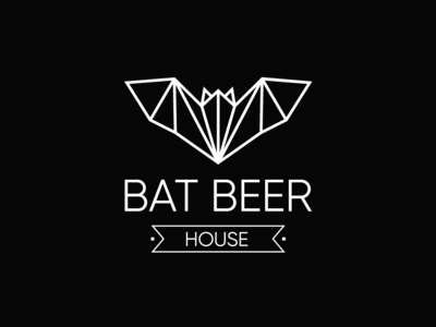 BAT BEER Logo Design flat vector logo graphic design designer design branding
