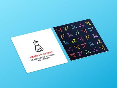 Personal Business Cards busines card flat vector graphic design designer design branding
