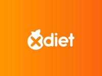 XDIET Logo Design