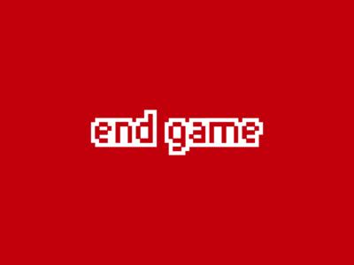 ENDGAME Logo Design flat logo vector branding graphic design designer design