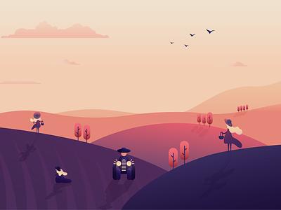 Levandule - Ilustrace designer art illustration flat vector graphic design design