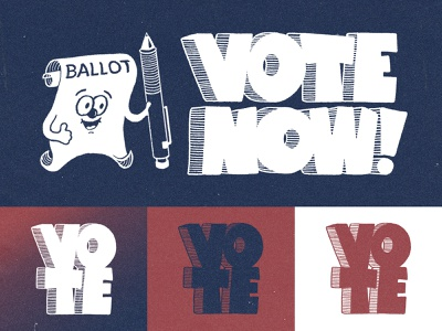 Vote Now! nostalgia oldschool retro cartoon character design drawing illustration government voting election day election voter vote