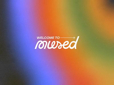 Mused Logo Design vector unique type rainbow grain handdrawn typography custom type gradient branding logo
