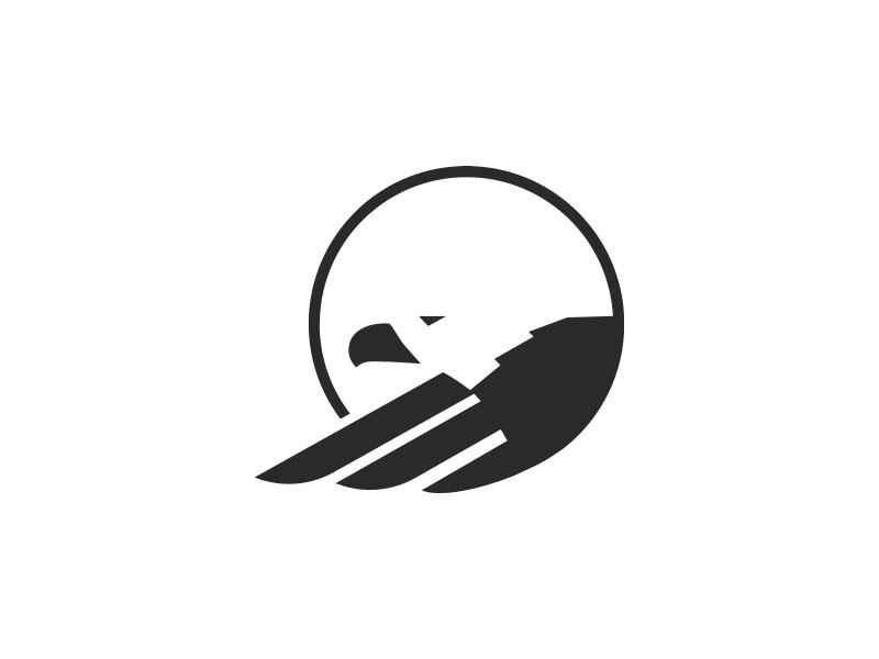 eagle logo mark by ethan unzicker dribbble