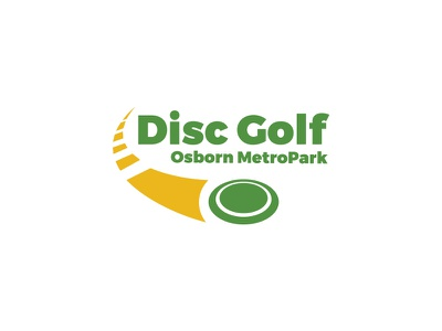 Disc Golf Logo motion park golf disc frisbee logo