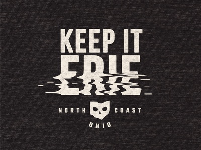 Keep It Erie eerie skull great lakes north coast ohio lake erie reflection lake october halloween erie