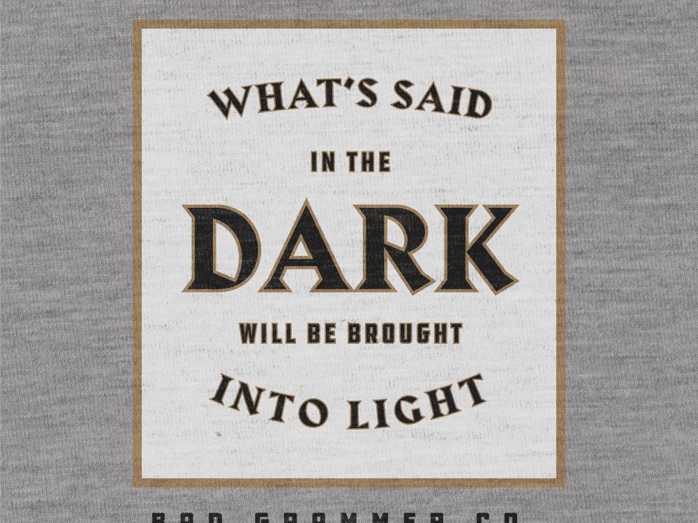 Said In The Dark gothic harbour draplin ddc dark tarot dd magic ouija tshirt