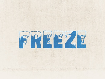 Freeze (inktober) frozen snow icicle cold frost ice lettering inktober freeze inktober2019