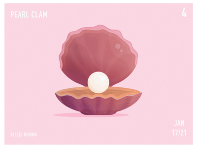 Pearl Clam ocean life oceanic oceans water sea ocean pearl jam pearls pearl clams clam digital painting art artwork digital art digital illustration design illustration