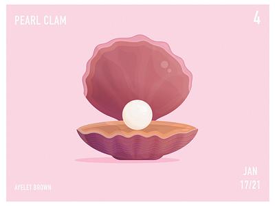 Pearl Clam ocean life oceanic oceans water sea ocean pearl jam pearls pearl clams clam digital painting art artwork digital art digital illustration design illustration