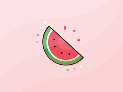 Watermelon Sugar food summer ui logo artwork art digital illustration digital art illustration design sugar watermelon