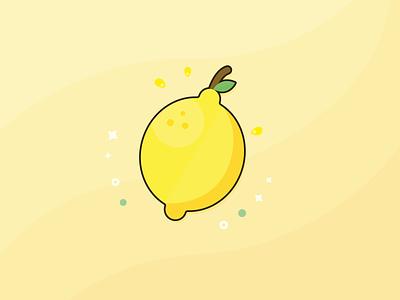 Lemon Sherbert bright bitter sour summer lemon fruit food branding artwork digital illustration art digital art illustration design